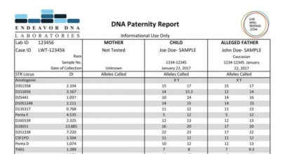 Endeavor Paternity DNA Test